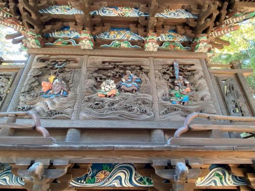 北側彫刻(神功皇后、三韓征伐の場面)